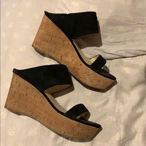 Marc Fisher black open toe sandals